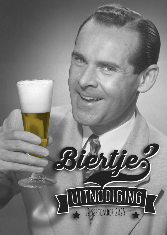 Uitnodigingen - Uitnodigingskaart voor een feestje, biertje?