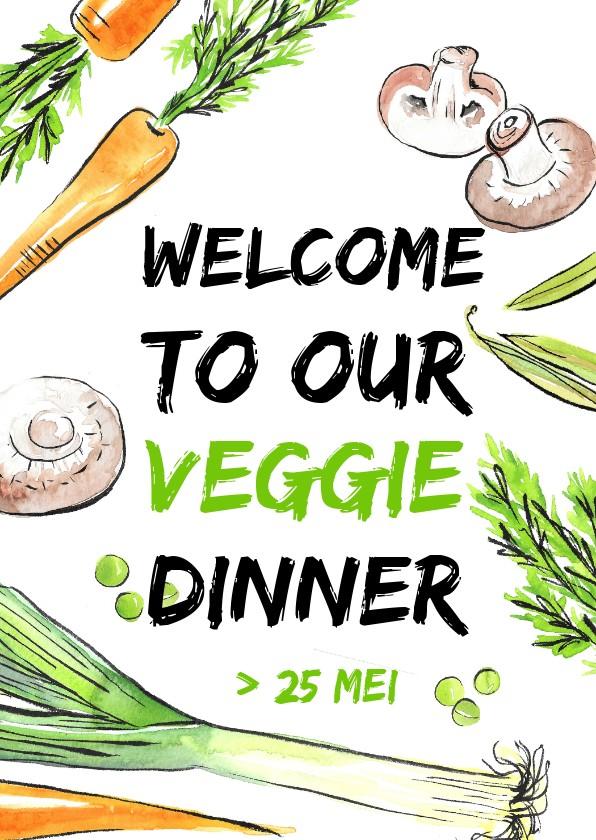 Uitnodigingen - Veggie dinerkaart