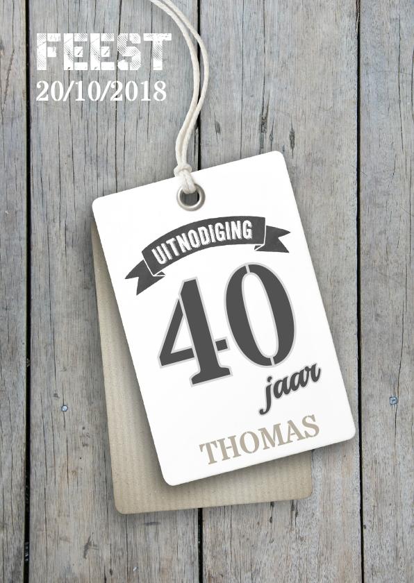 Uitnodigingen - Verjaardag 40 jaar uitnodiging