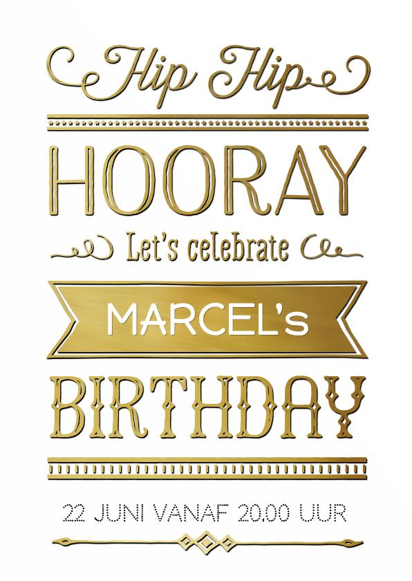 Uitnodigingen - Verjaardag handlettering retr OT