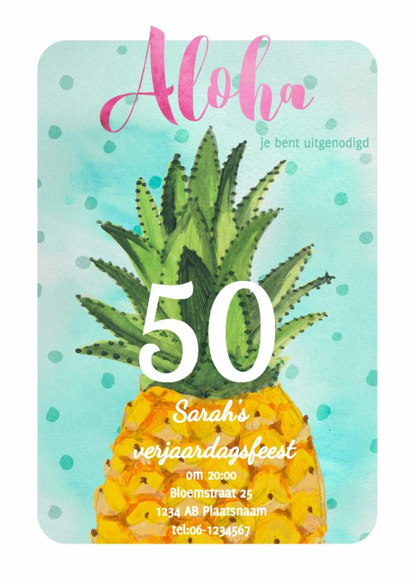 Uitnodigingen - Verjaardagsfeest Ananas Jarig