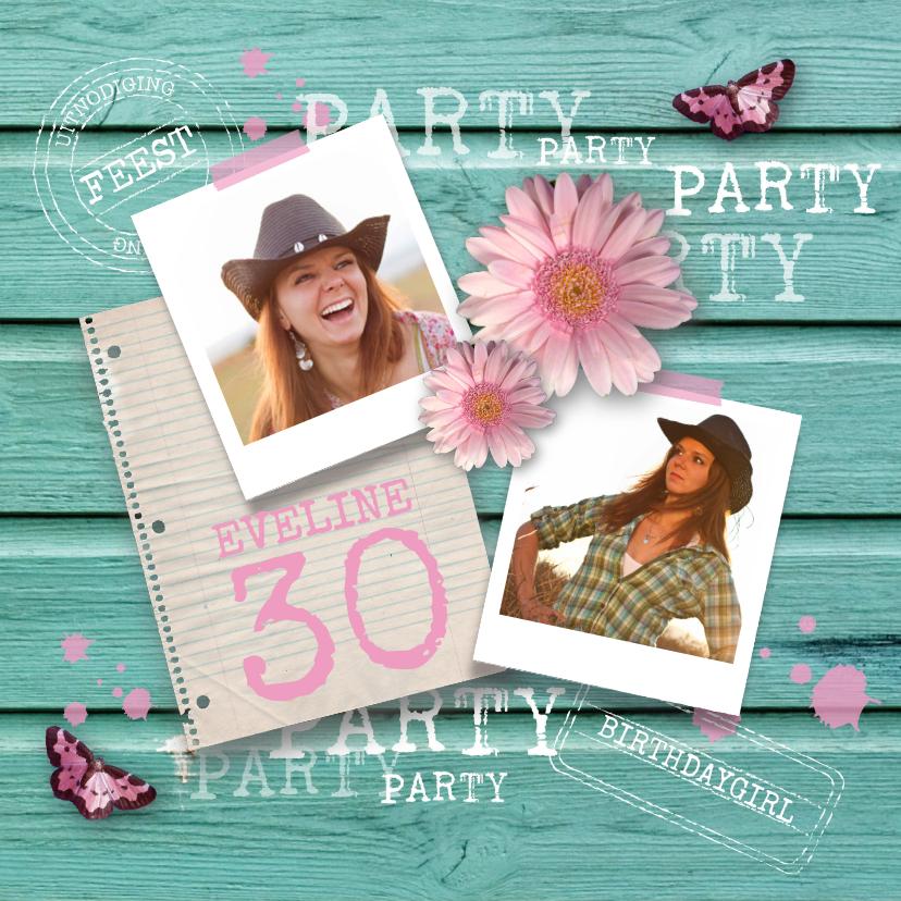 Uitnodigingen - Verjaardagsfeest vrouw party