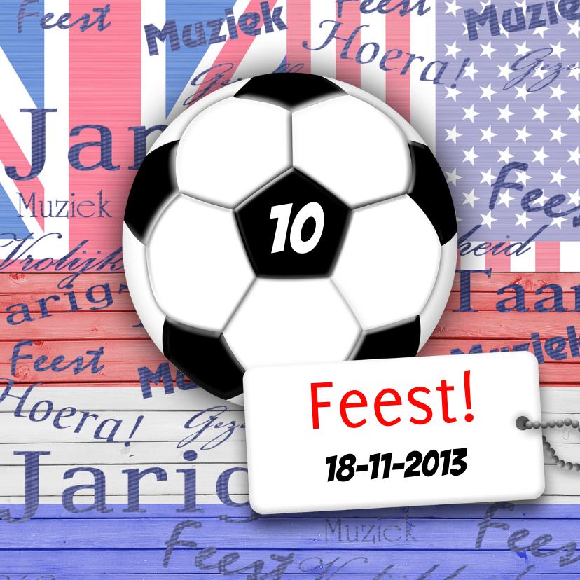 Uitnodigingen - Voetbal jongens stoer feest