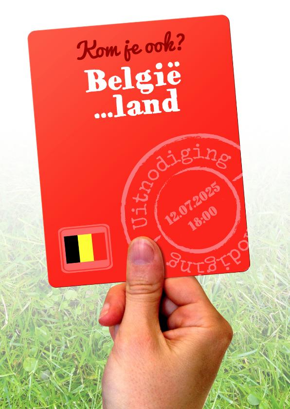Uitnodigingen - Voetbalkaart België tegen... - BK