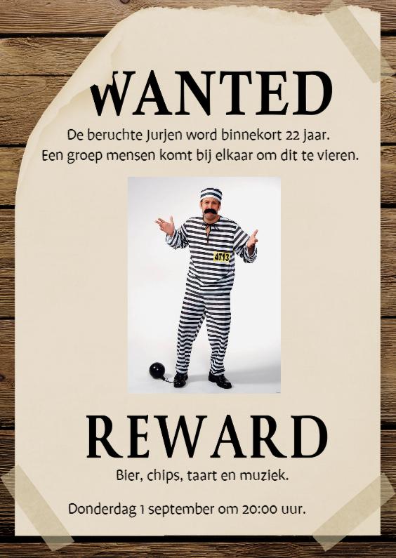 Uitnodigingen - Wanted