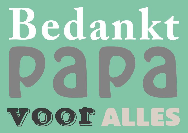 Vaderdag kaarten - Bedankt papa