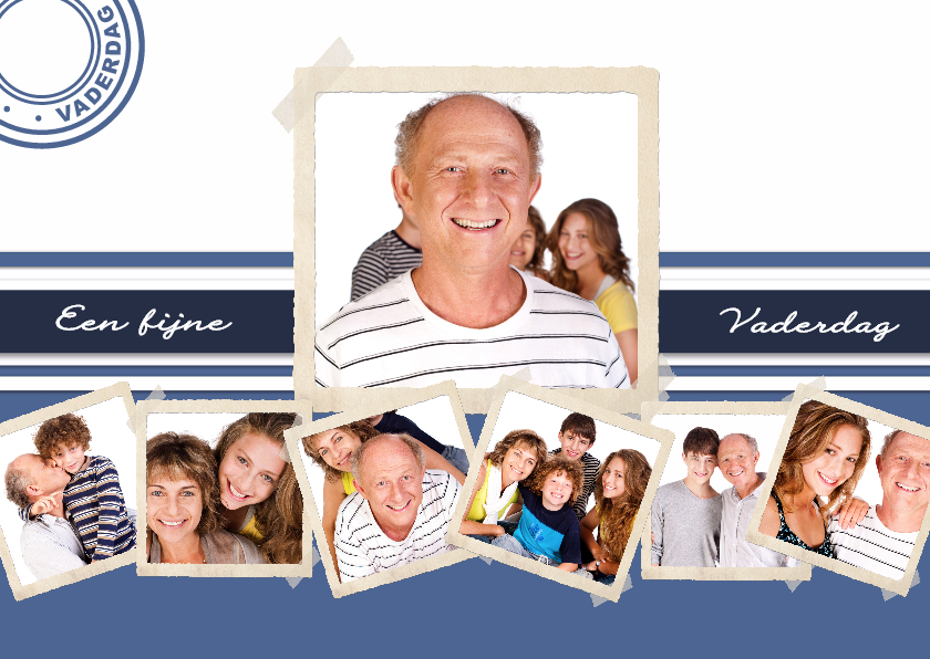 Vaderdag kaarten - Collage Fijne Vaderdag - BK