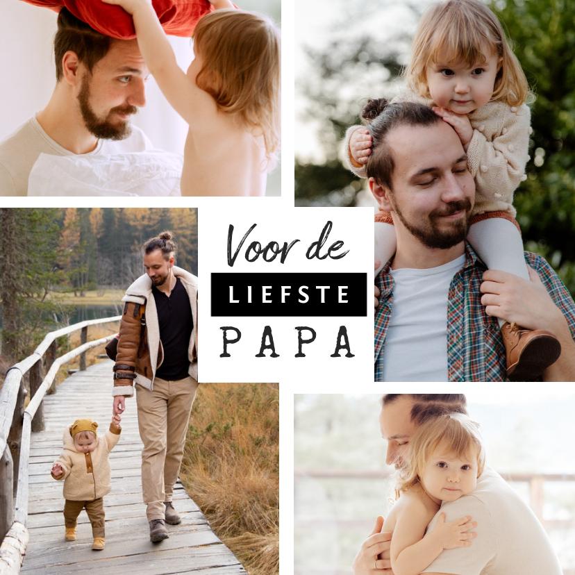Vaderdag kaarten - Fotokaart vaderdag voor de liefste papa