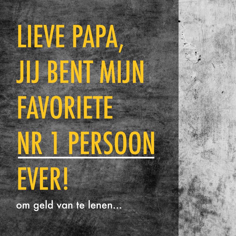 Vaderdag kaarten - Grappige vaderdagkaart met leuke tekst en betonlook