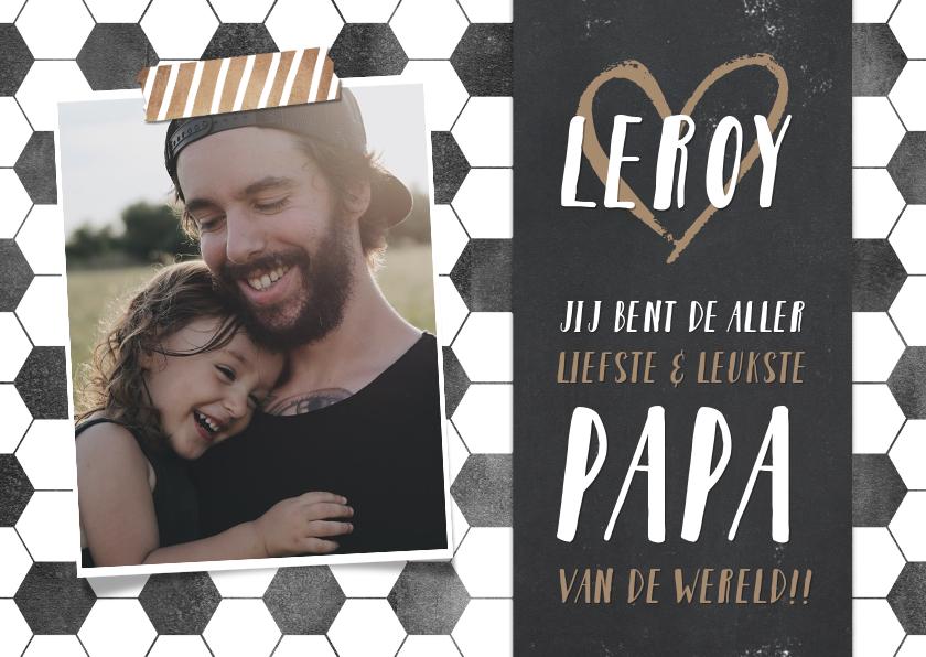 Vaderdag kaarten - Hippe vaderdagkaart met voetbal thema en eigen foto