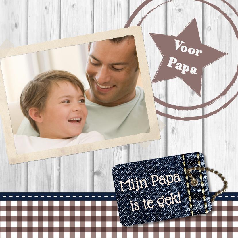 Vaderdag kaarten - Hout met Label Papa - BK