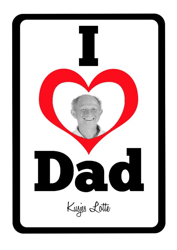 Vaderdag kaarten - I Love Dad - BK