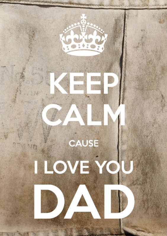 Vaderdag kaarten - Keep Calm I love you DAD 2 - SG
