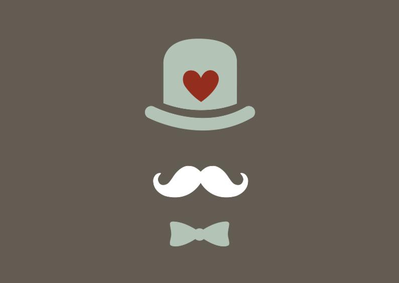 Vaderdag kaarten - Leuke kaart met snor (2)