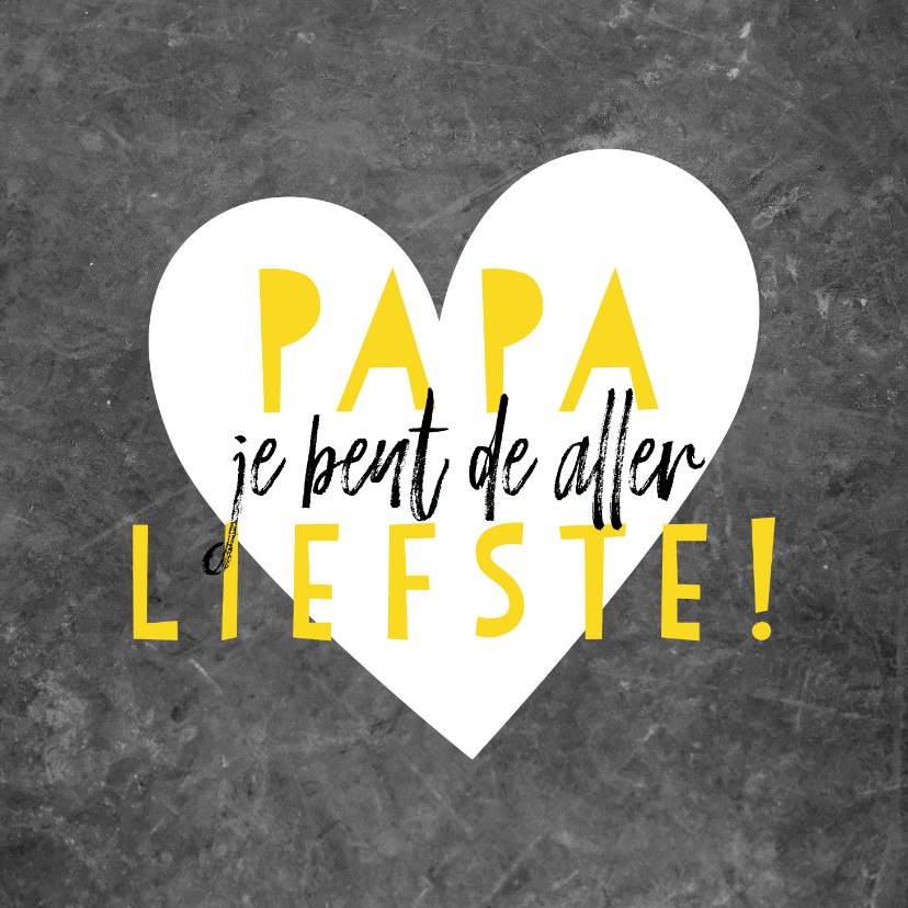 Vaderdag kaarten - Leuke vaderdagkaart met beton, hartje en typografie