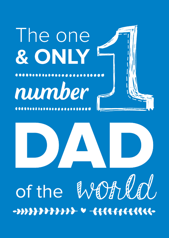 Vaderdag kaarten - Number one dad of the world