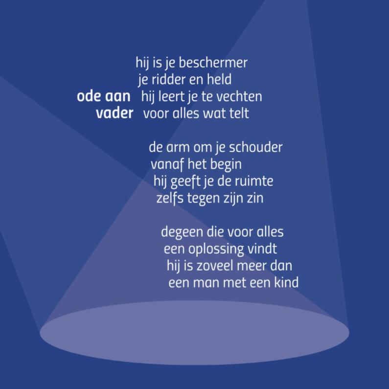 Vaderdag kaarten - Ode aan vader - gedichtenbeeld