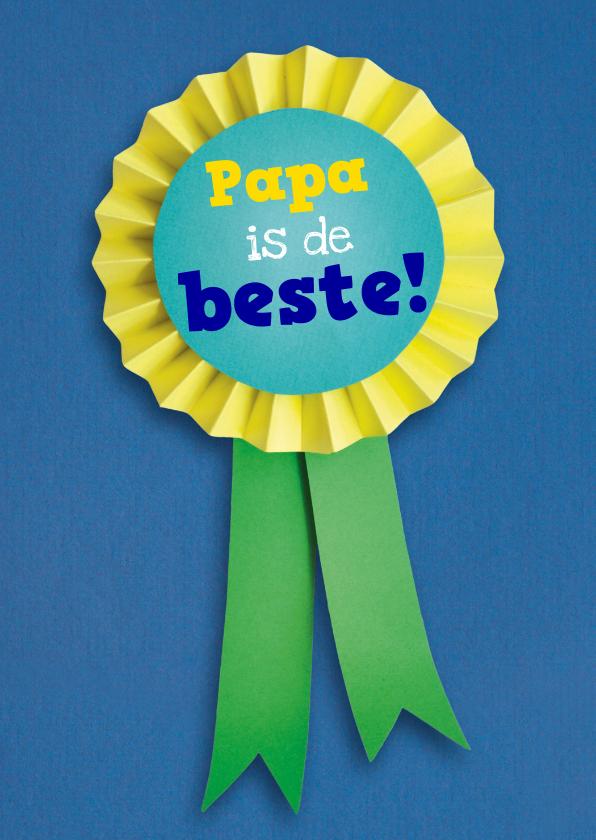 Vaderdag kaarten - Papa is de beste vaantje