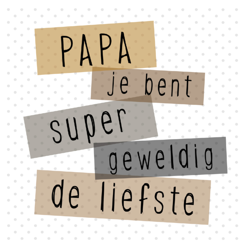 Vaderdag kaarten - Polkadot vaderdag