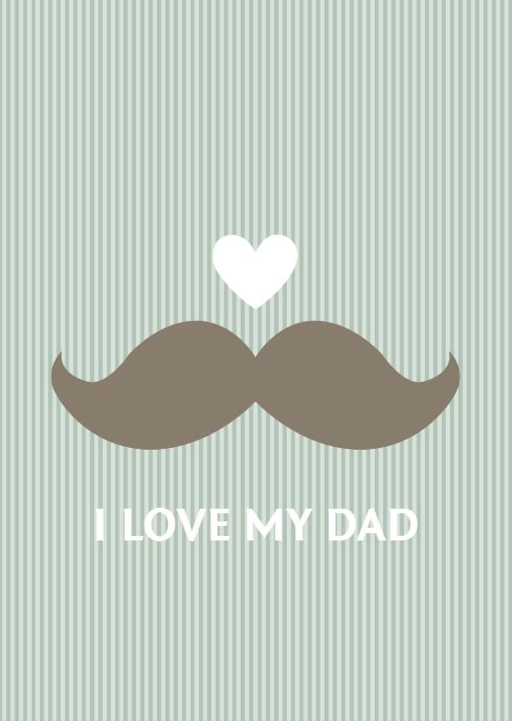 Vaderdag kaarten - Snor vaderdag