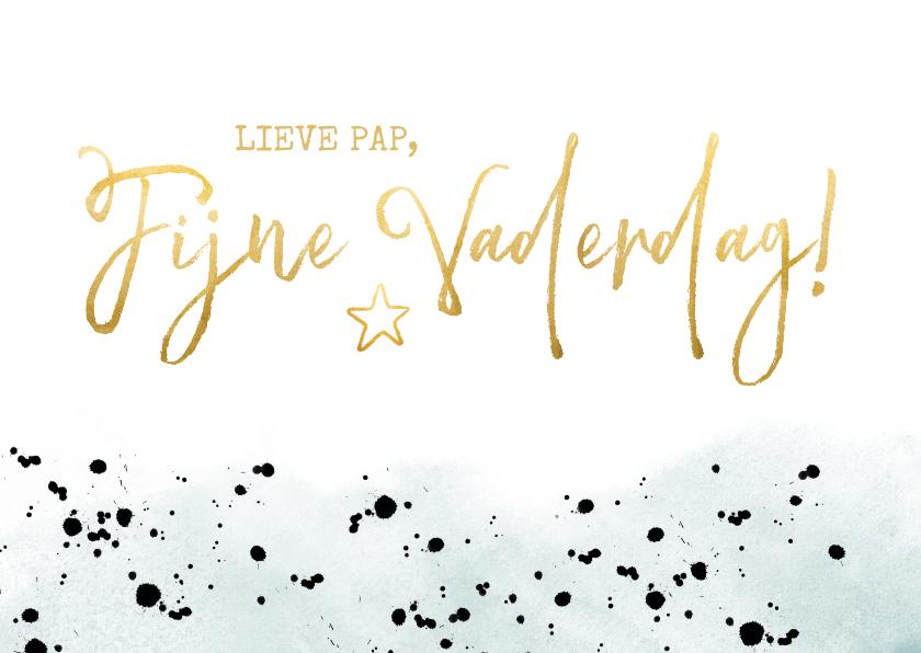 Vaderdag kaarten - Stijlvolle moderne vaderdagkaart met gouden letters