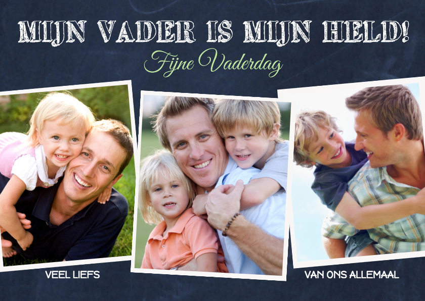 Vaderdag kaarten - Vaderdag foto collage