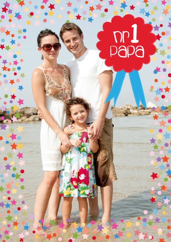 Vaderdag kaarten - Vaderdag Fotokaart Nr. 1 Papa