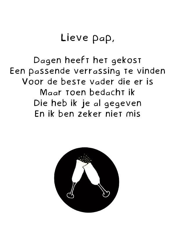 Vaderdag kaarten - Vaderdag kaart lieve pap - gedicht