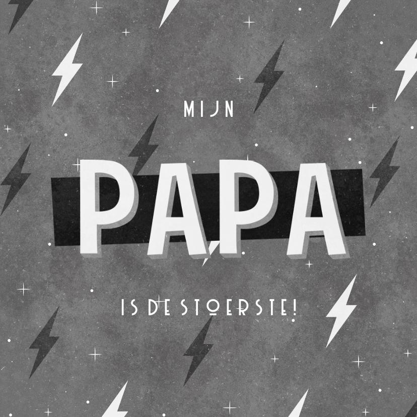 Vaderdag kaarten - Vaderdag kaart stoer mijn papa is de stoerste