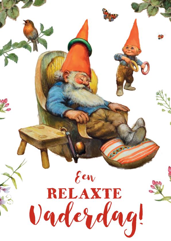 Vaderdag kaarten - Vaderdag kaboutervader doet een dutje