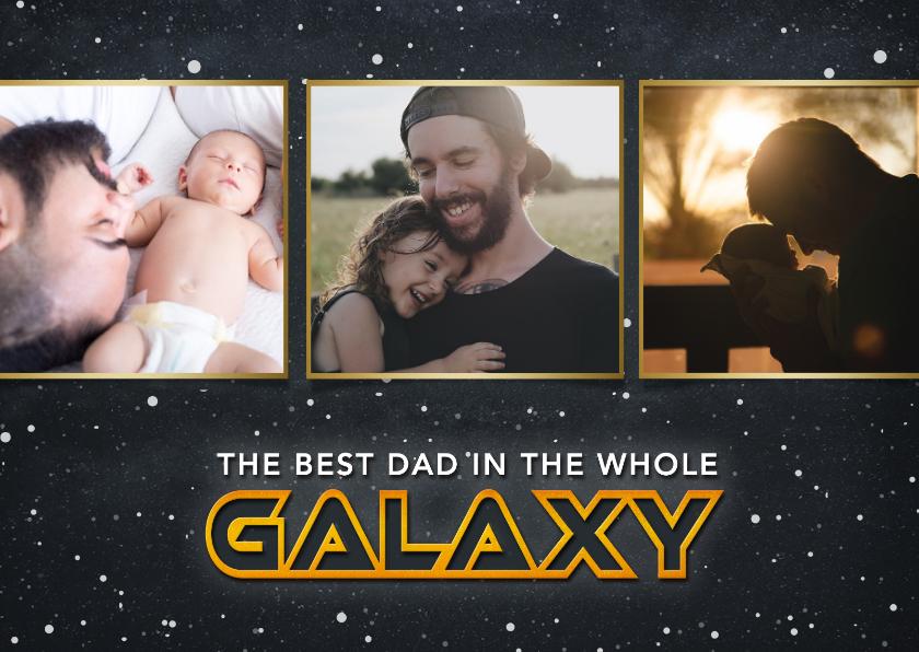 Vaderdag kaarten - Vaderdag Sci-fi fotocollage kaart- best dad in the galaxy