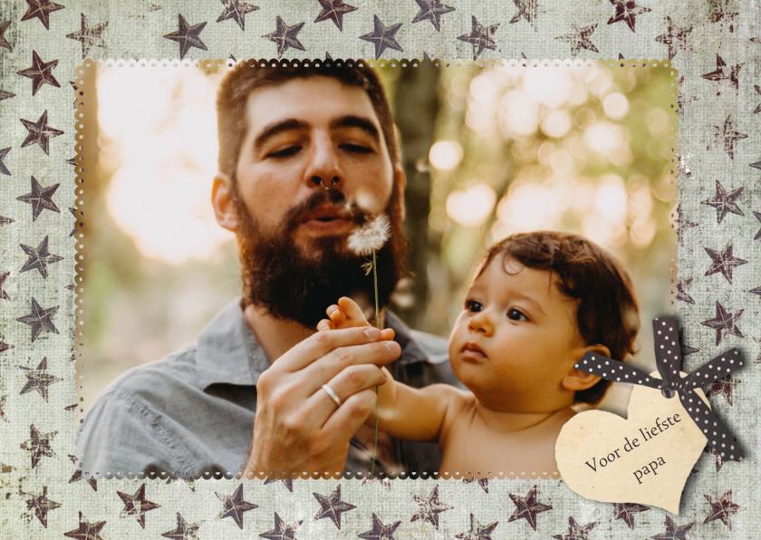 Vaderdag kaarten - Vaderdag Ster Sterren Foto Hart Papa