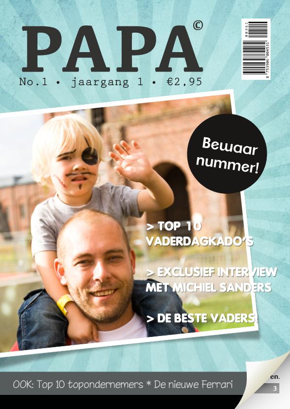 Vaderdag kaarten - Vaderdag Tijdschrift Blauw Foto