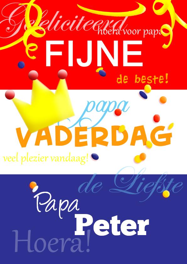 Vaderdag kaarten - Vaderdag Vlag
