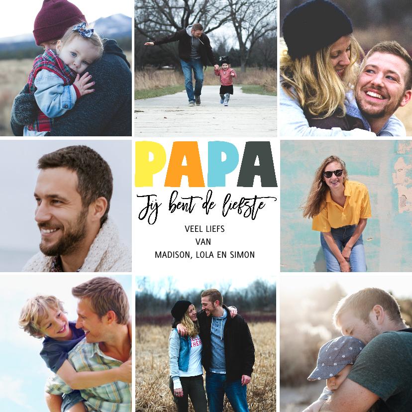 Vaderdag kaarten - Vaderdagkaart 9 foto's vierkant