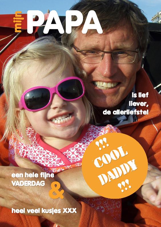 Vaderdag kaarten - Vaderdagkaart - cool daddy 4 - OT