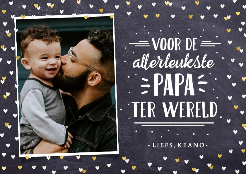 Vaderdag kaarten - Vaderdagkaart handlettering met foto voor allerleukste vader