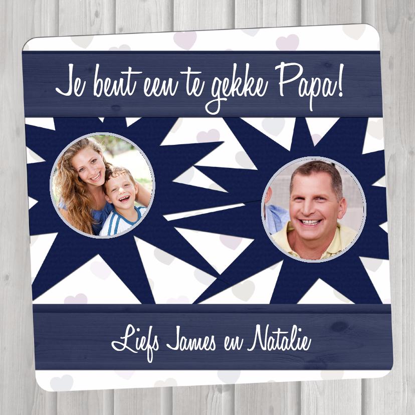 Vaderdag kaarten - Vaderdagkaart Hout Blauw - BK