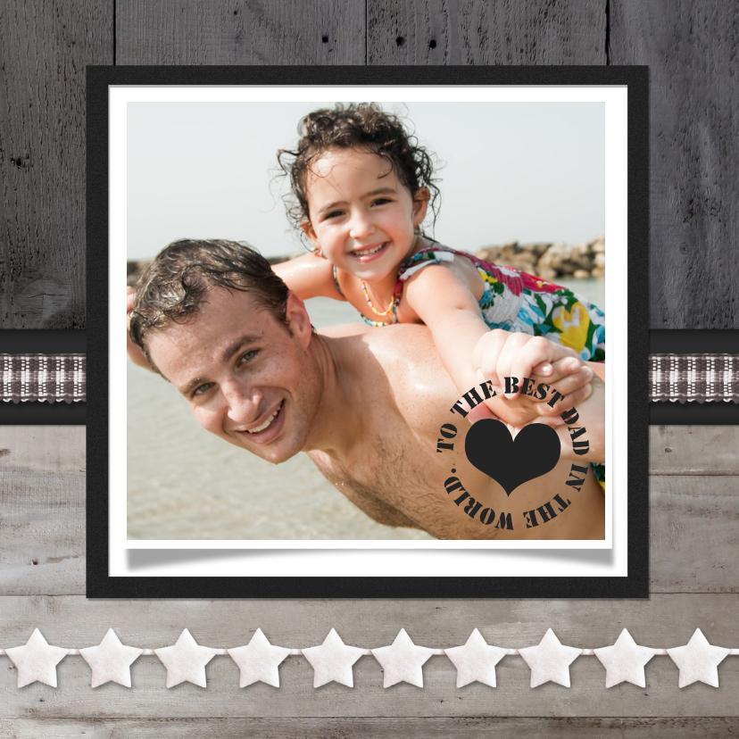 Vaderdag kaarten - Vaderdagkaart Hout Ster Foto