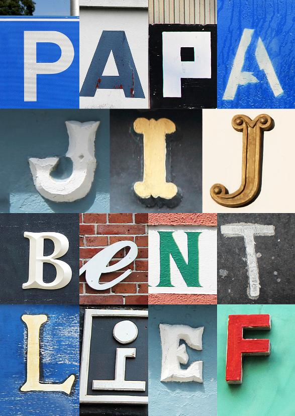 Vaderdag kaarten - Vaderdagkaart lieve letters
