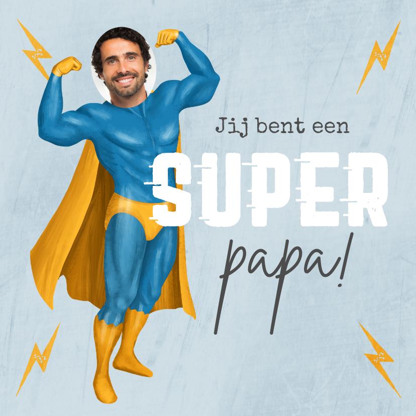Vaderdag kaarten - Vaderdagkaart super papa superman grappig humor foto