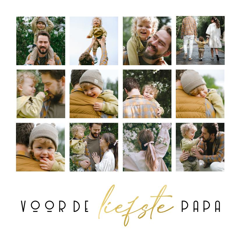Vaderdag kaarten - Vaderdagkaart voor de liefste papa fotocollage 12 foto's