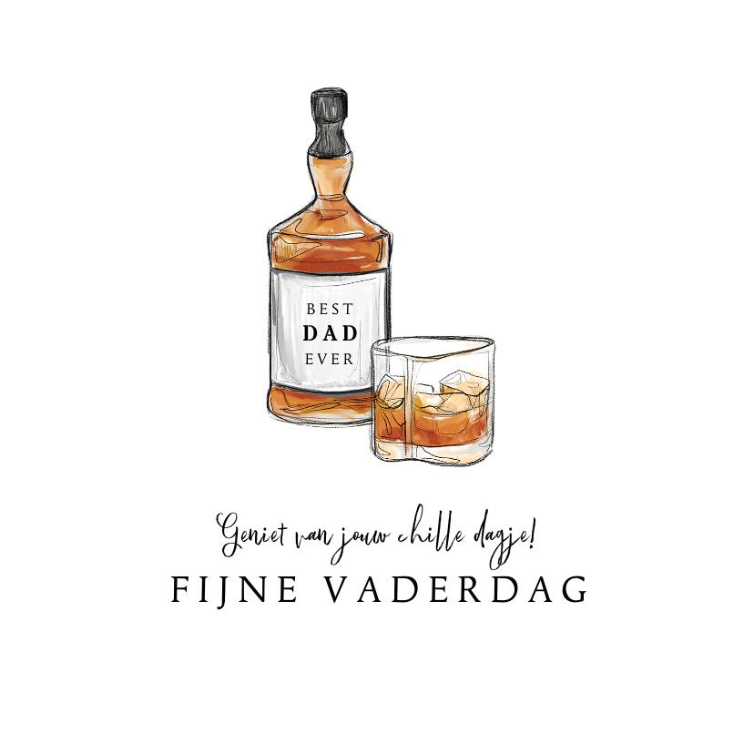 Vaderdag kaarten - Vaderdagkaart whiskey fijne vaderdag chill opa