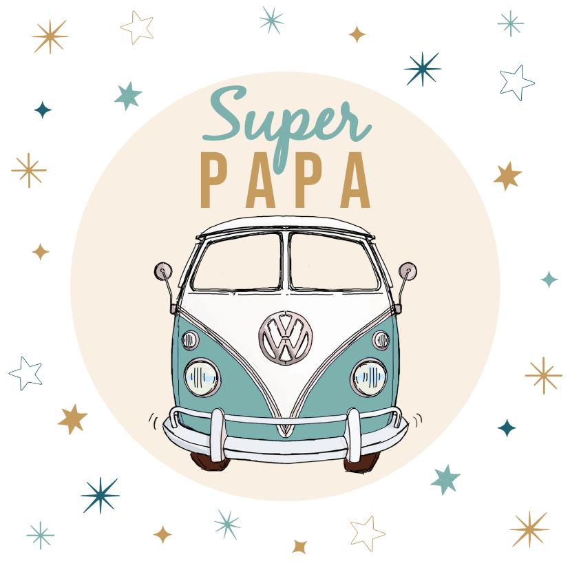 Vaderdag kaarten - Volkswagen bus vaderdag