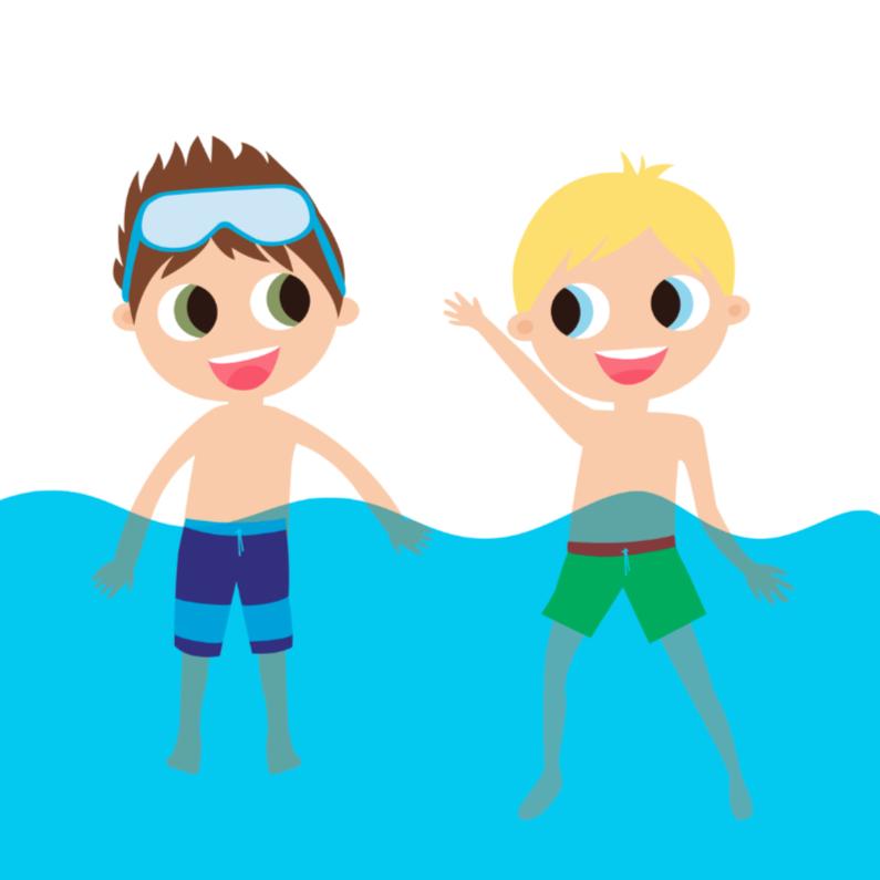 Vakantiekaarten - Alies Design zwemmen op vakantie