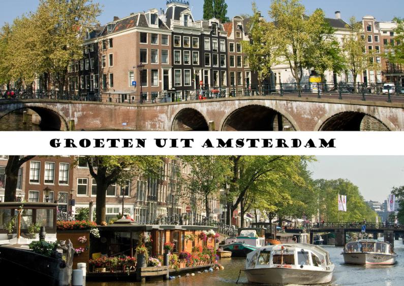 Vakantiekaarten - Amsterdam in 2 fotos