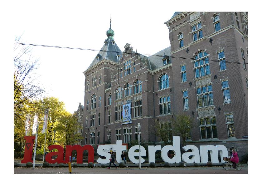Vakantiekaarten - Ansicht Amsterdam letters