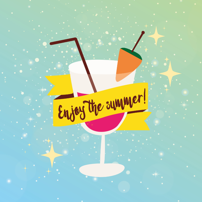 Vakantiekaarten - Enjoy the summer - vakantiekaart