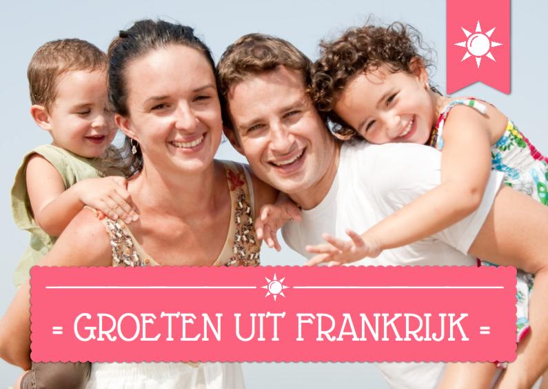 Vakantiekaarten - Fotokaart Vakantie Balk Tekst