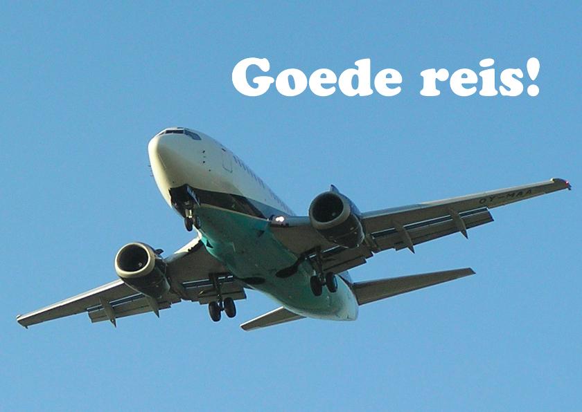 Vakantiekaarten - Goede reis Vliegtuig 2